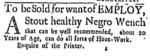 Jul 16 - Massachusetts Gazette Slavery 1