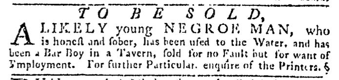 Jul 16 - Pennsylvania Gazette Slavery 1