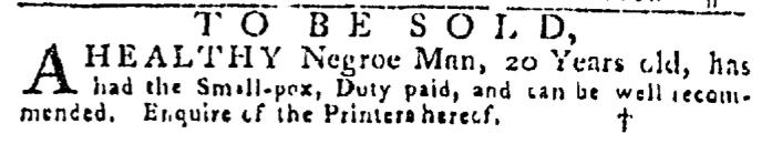 Jul 16 - Pennsylvania Gazette Slavery 2