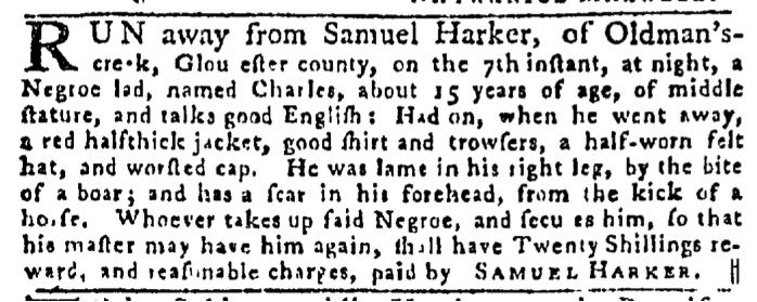 Jul 16 - Pennsylvania Gazette Slavery 3