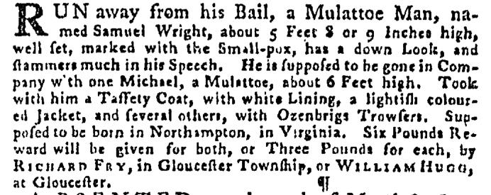 Jul 16 - Pennsylvania Gazette Supplement Slavery 1