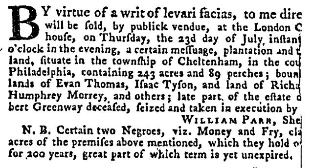 Jul 16 - Pennsylvania Gazette Supplement Slavery 3