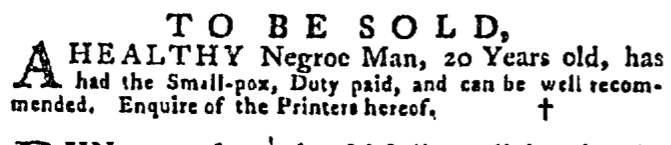 Jul 2 - Pennsylvania Gazette Supplement Slavery 2