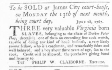 Jul 2 - Virginia Gazette Slavery 3
