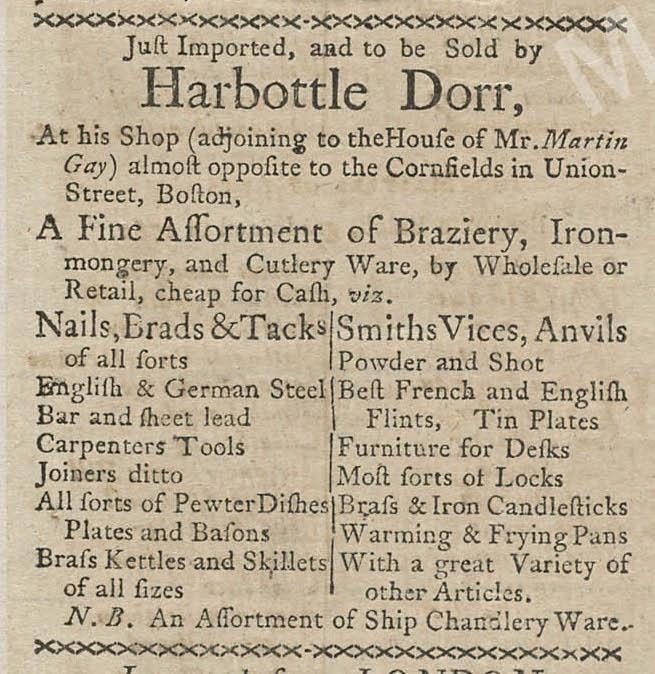 Jul 20 - 7:20:1767 Boston-Gazette