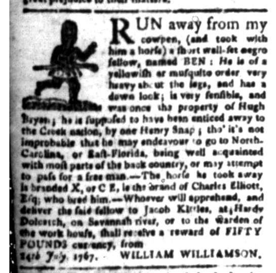 Jul 20 - South Carolina Gazette Slavery 2
