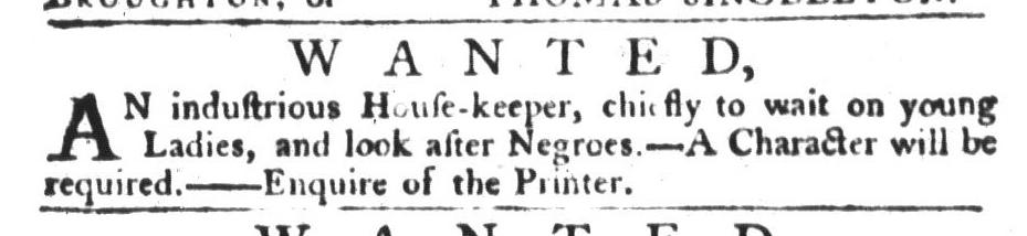 Jul 21 - South-Carolina Gazette and Country Journal Slavery 1