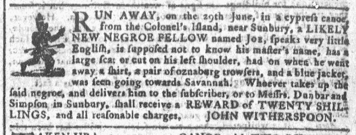 Jul 22 - Georgia Gazette Slavery 3