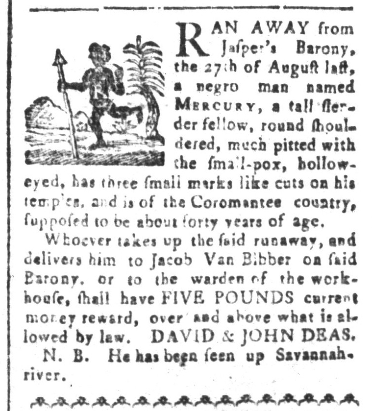 Jul 3 - South-Carolina and American General Gazette Slavery 2