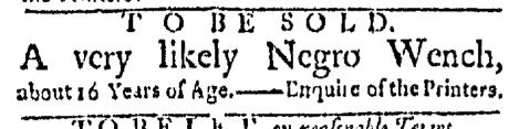 Jul 6 - Boston Evening-Post Slavery 1