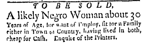 Jul 6 - Boston Evening-Post Slavery 2