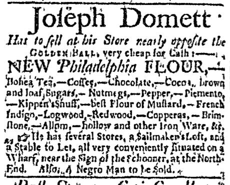 Jul 6 - Boston Evening-Post Supplement Slavery 1