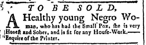 Jul 6 - New-York Gazette Slavery 1