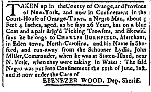 Jul 6 - New-York Gazette Slavery 2