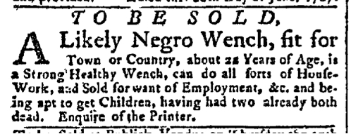 Jul 6 - New-York Gazette Slavery 3