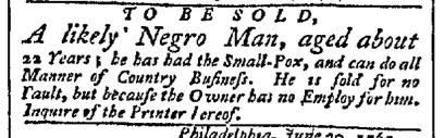Jul 6 - Pennsylvania Chronicle Slavery 1