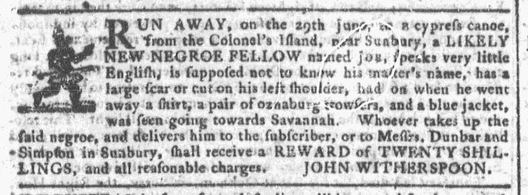 Jul 8 - Georgia Gazette Slavery 1