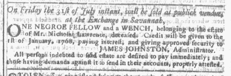 Jul 8 - Georgia Gazette Slavery 3