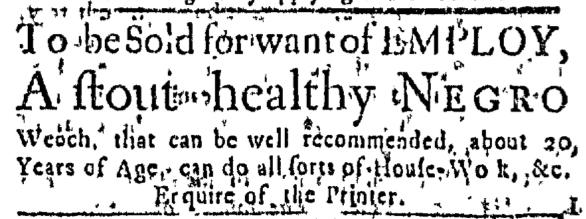 Jul 9 - Massachusetts Gazette Slavery 1