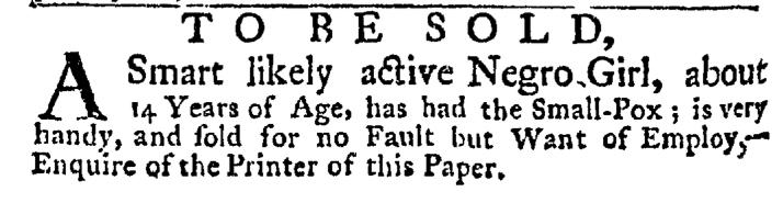 Jul 9 - New-York Gazette Weekly Post Boy Slavery 2
