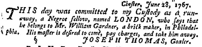 Jul 9 - Pennsylvania Gazette Supplement Slavery 3