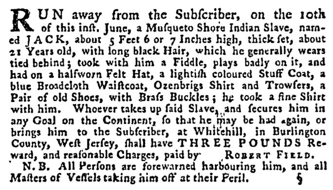 Jul 9 - Pennsylvania Gazette Supplement Slavery 4