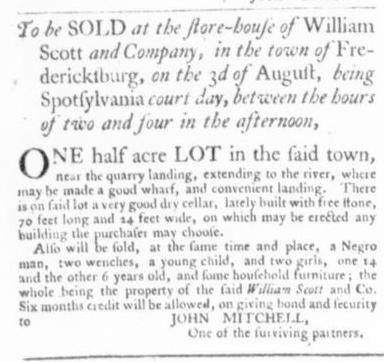 Jul 9 - Virginia Gazette Slavery 3
