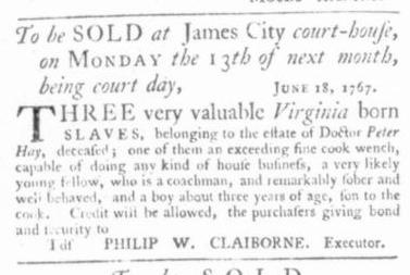 Jul 9 - Virginia Gazette Slavery 4