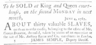 Jul 9 - Virginia Gazette Slavery 6