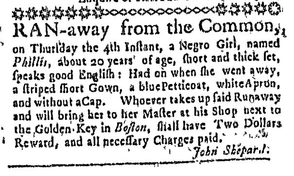 Jun 11 - Massachusetts Gazette Slavery 1