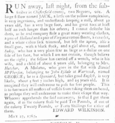 Jun 11 - Virginia Gazette Slavery 2