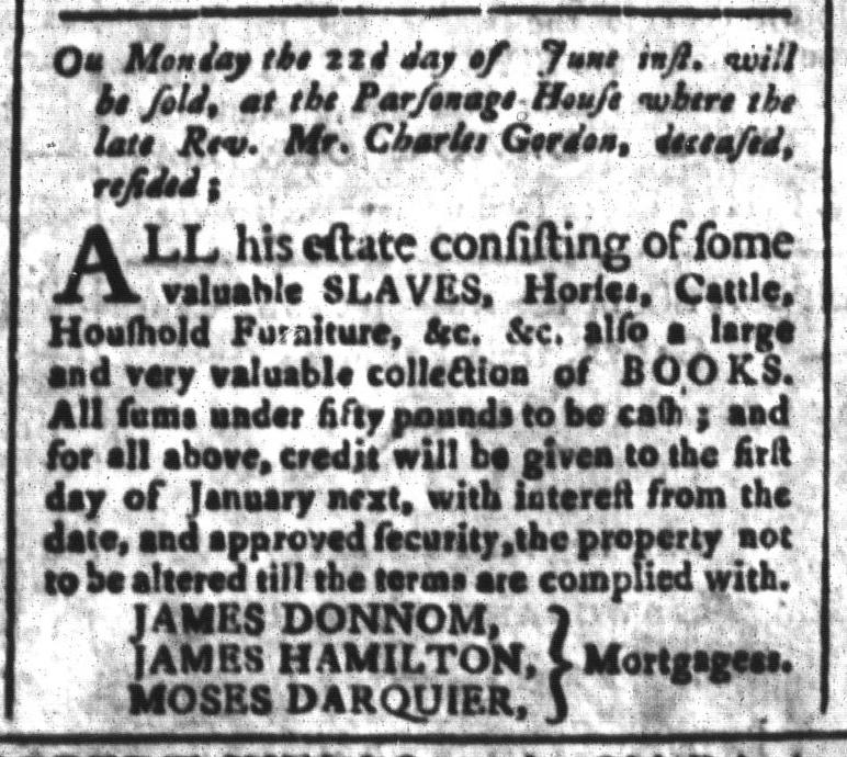 Jun 12 - South-Carolina and American General Gazette Slavery 6