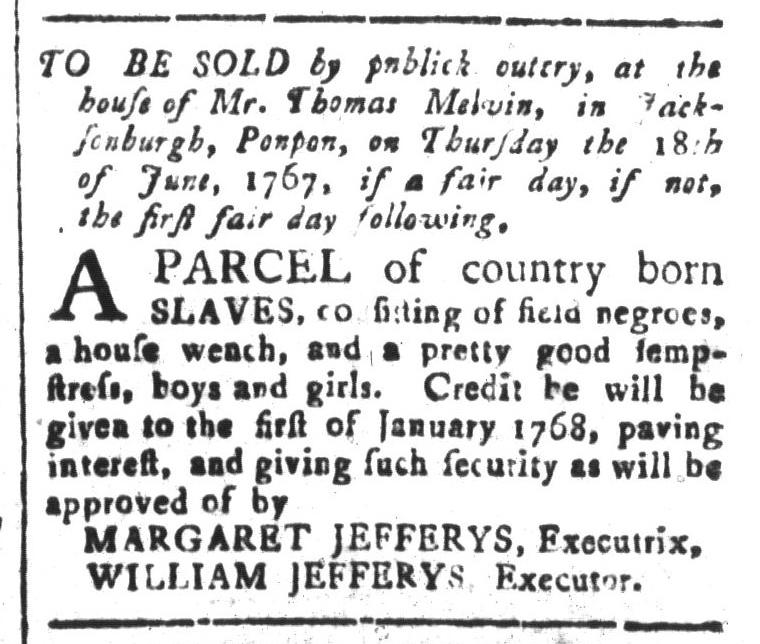 Jun 12 - South-Carolina and American General Gazette Slavery 7