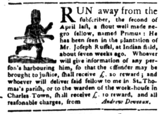 Jun 15 - South Carolina Gazette Slavery 1