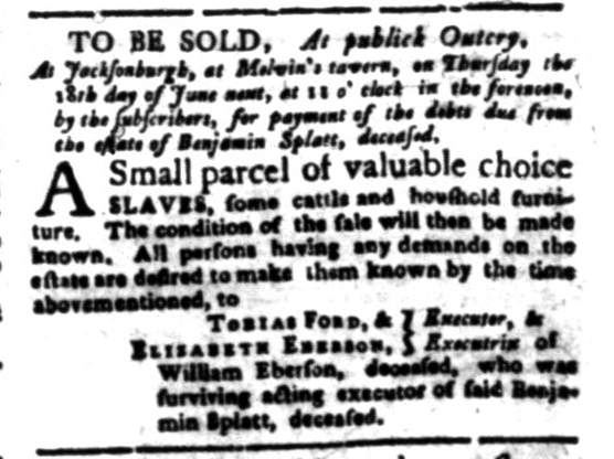 Jun 15 - South Carolina Gazette Slavery 11