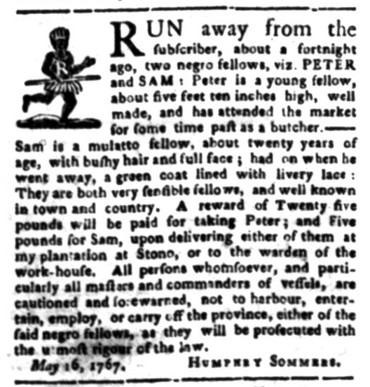Jun 15 - South Carolina Gazette Slavery 2