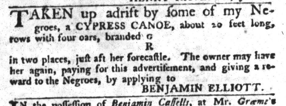 Jun 16 - South-Carolina Gazette and Country Journal Slavery 10