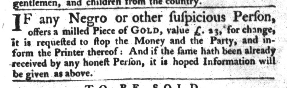 Jun 16 - South-Carolina Gazette and Country Journal Slavery 2