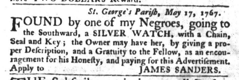 Jun 16 - South-Carolina Gazette and Country Journal Slavery 3