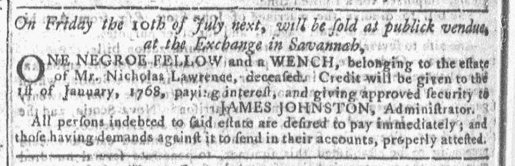 Jun 17 - Georgia Gazette Slavery 6