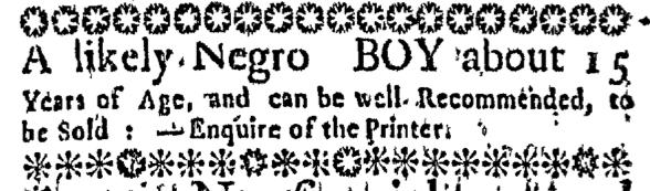 Jun 18 - Massachusetts Gazette Slavery 1