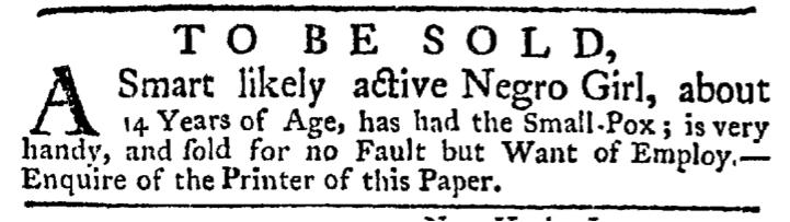 Jun 18 - New-York Gazette Weekly Post-Boy Slavery 1