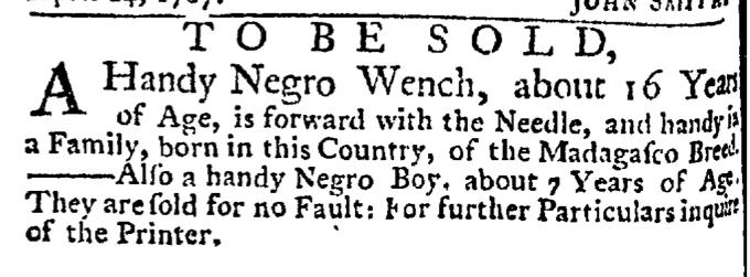Jun 18 - New-York Gazette Weekly Post-Boy Slavery 3
