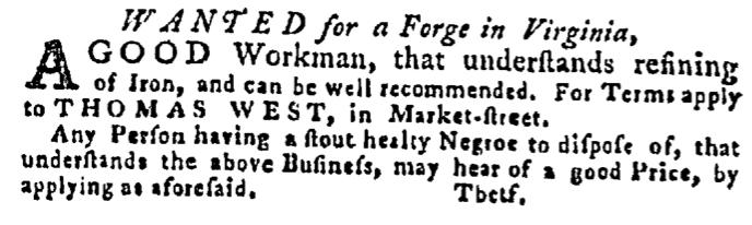 Jun 18 - Pennsylvania Gazette Slavery 2