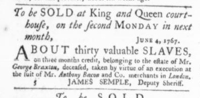 Jun 18 - Virginia Gazette Slavery 3
