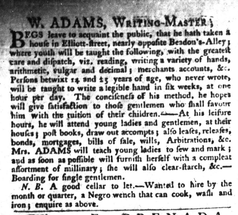 Jun 2 - South-Carolina Gazette and Country Journal Slavery 7