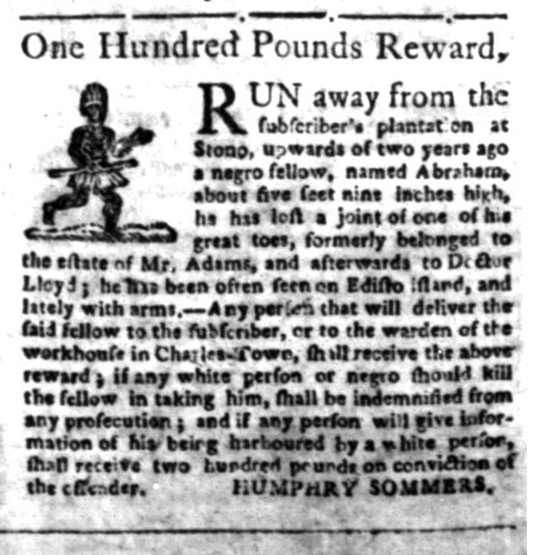 Jun 22 - South Carolina Gazette Slavery 10