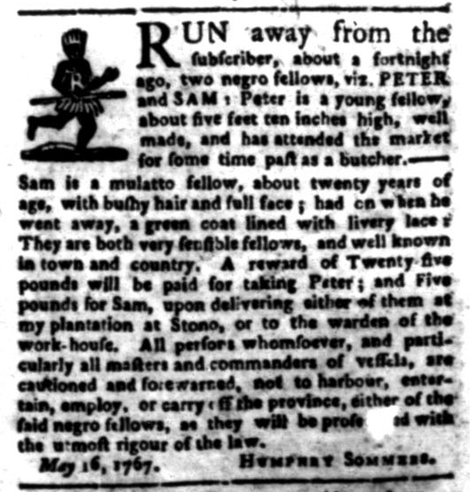 Jun 22 - South Carolina Gazette Slavery 4