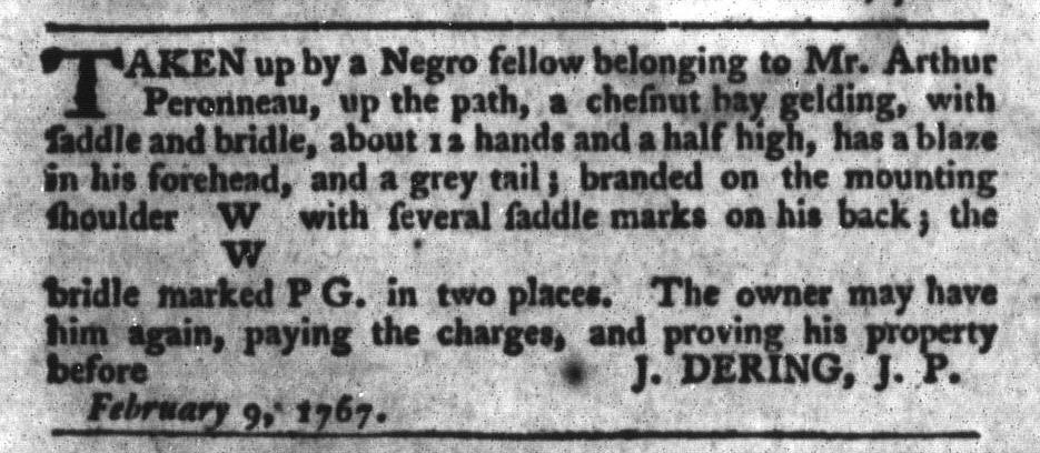 Jun 23 - South-Carolina Gazette and Country Journal Supplement Slavery 1
