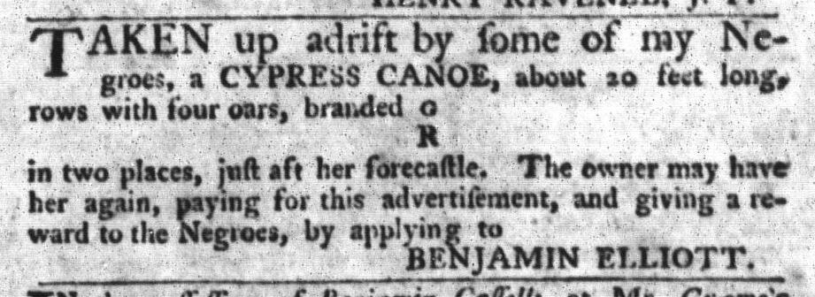 Jun 23 - South-Carolina Gazette and Country Journal Supplement Slavery 4